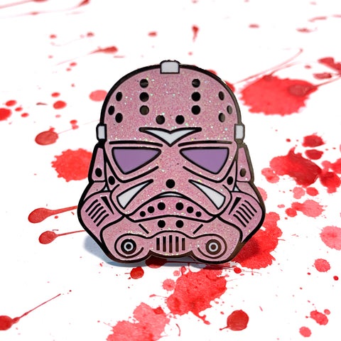 Trooper Jason - Pink Glitter - Enamel Pins