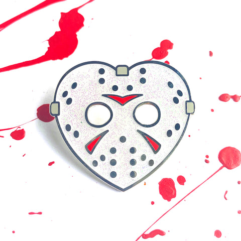 Friday Lover - White Glitter - Enamel Pins