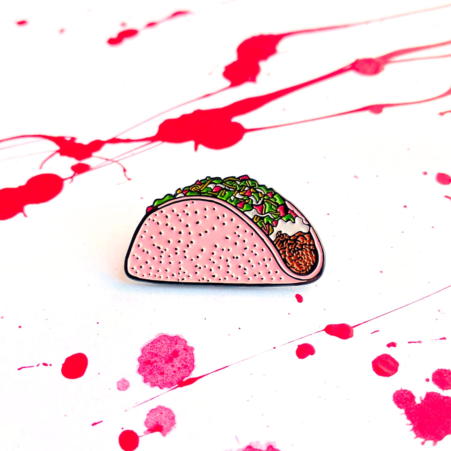 Pink Taco - Solid - Pin