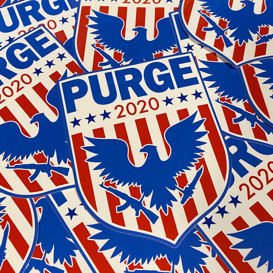 Purge 2020 Shield - Sticker