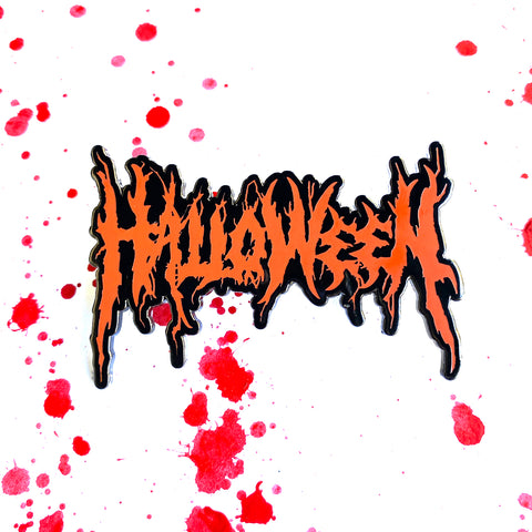 Halloween Metal - Orange - Enamel Pin