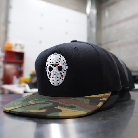 Camp Killer - Black / Camo Bill - Snapback Hat