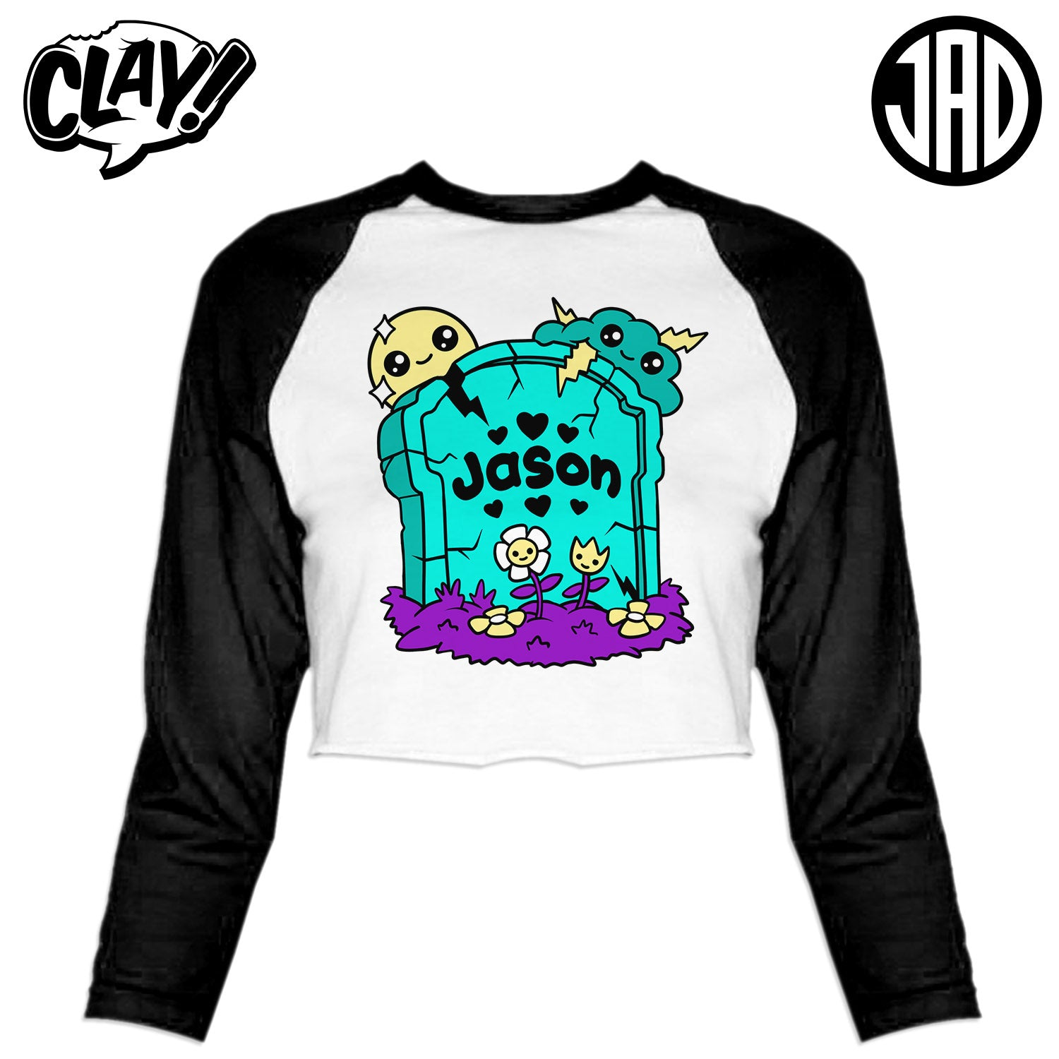 RIP Jason NES - Women's Cropped Baseball Tee