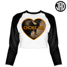 Choke Me Mike 2 - Women's Cropped Baseball Tee