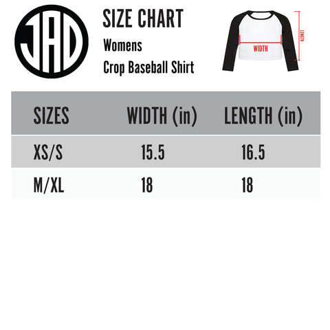 Slashion - Women's Cropped Baseball Tee