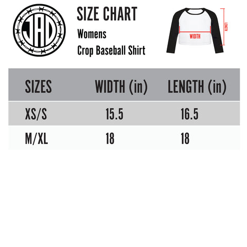 Designer Bag Massacre - Women's Cropped Baseball Tee