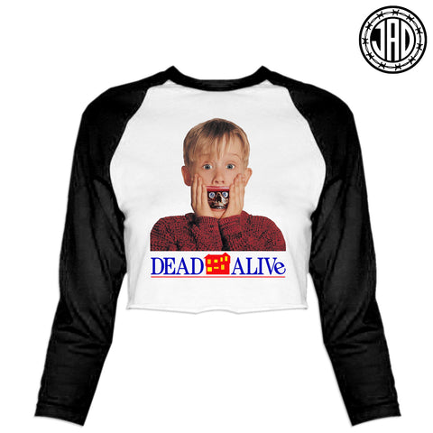 Dead Alone - Women's Cropped Baseball Tee