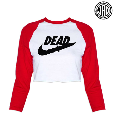 DEAD - Women's Cropped Baseball Tee