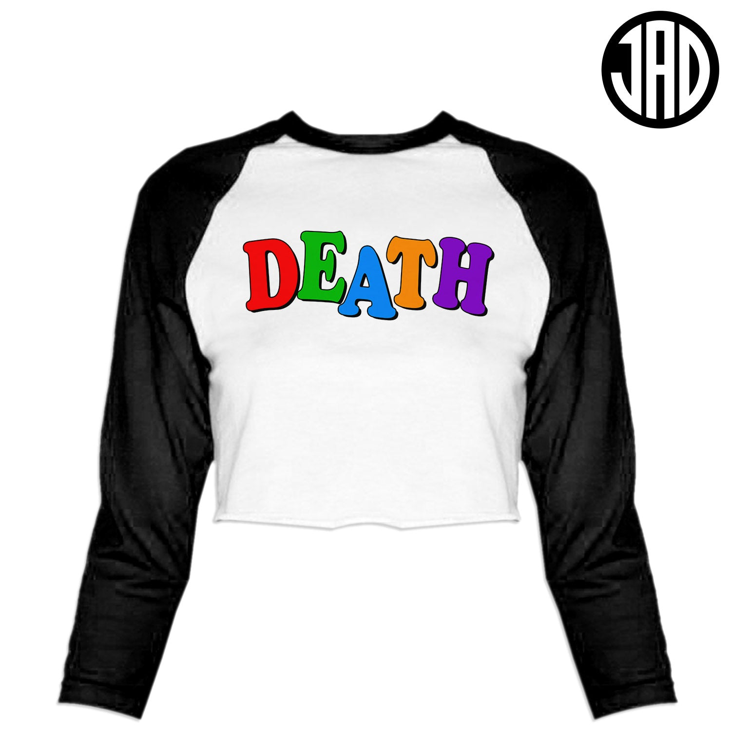Death School - Women's Cropped Baseball Tee