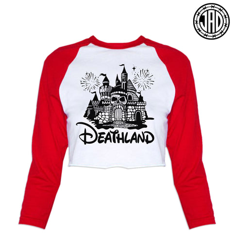 Deathland - Women's Cropped Baseball Tee