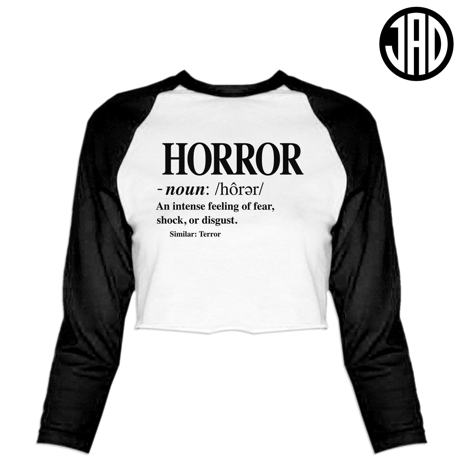 Definition - Women's Cropped Baseball Tee