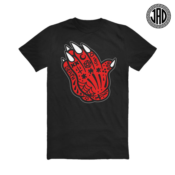 Evil Mouse Praying Hands - Men's (Unisex) Tee