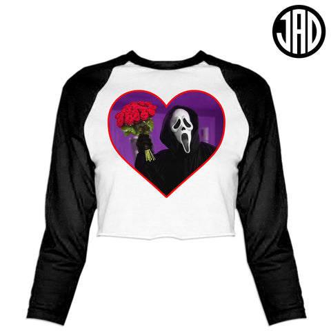 Don't Hang Up On Me - Women's Cropped Baseball Tee