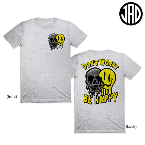 Be Happy - Front and Back - Men's (Unisex) Tee
