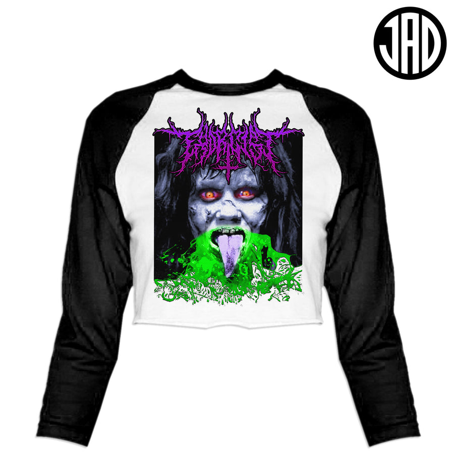 Exorcist Metal - Women's Cropped Baseball Tee