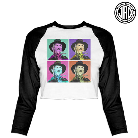 Warhol Fred - Women's Cropped Baseball Tee