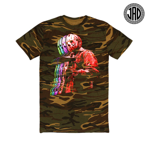 Friday Retro Layers - Camo - Men's (Unisex) Tee