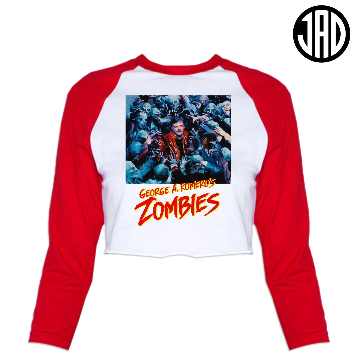 GAR Zombies - Women's Cropped Baseball Tee