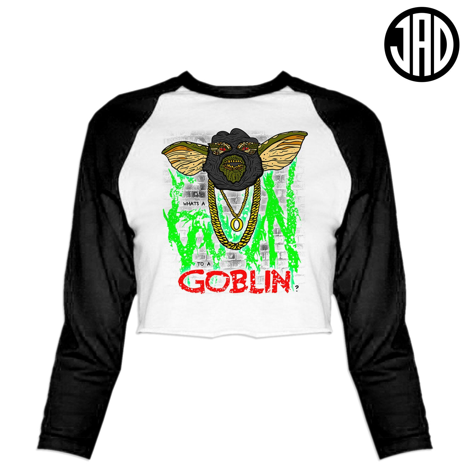 Goon To A Goblin - Women's Cropped Baseball Tee