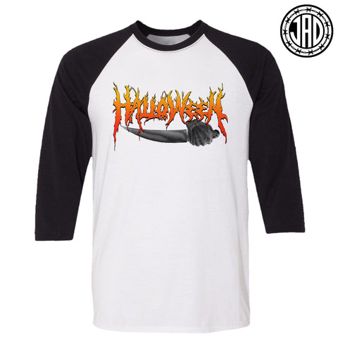 Halloween Hardcore - Men's (Unisex) Baseball Tee