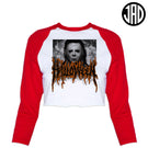 Halloween Metal V2 - Women's Cropped Baseball Tee