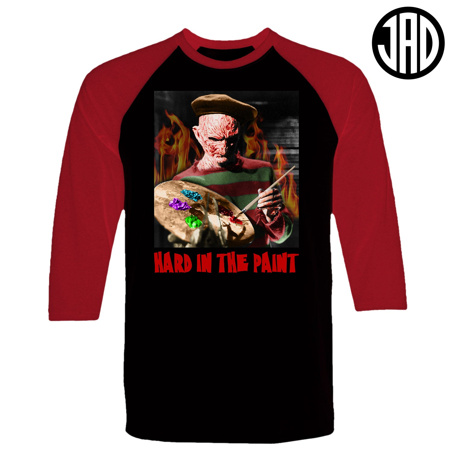 Hard In The Paint - Men's (Unisex) Baseball Tee