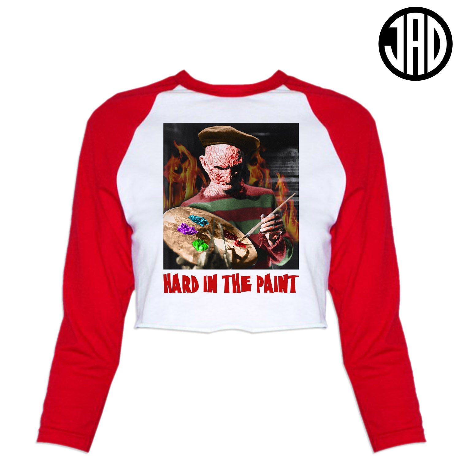 Hard In The Paint - Women's Cropped Baseball Tee