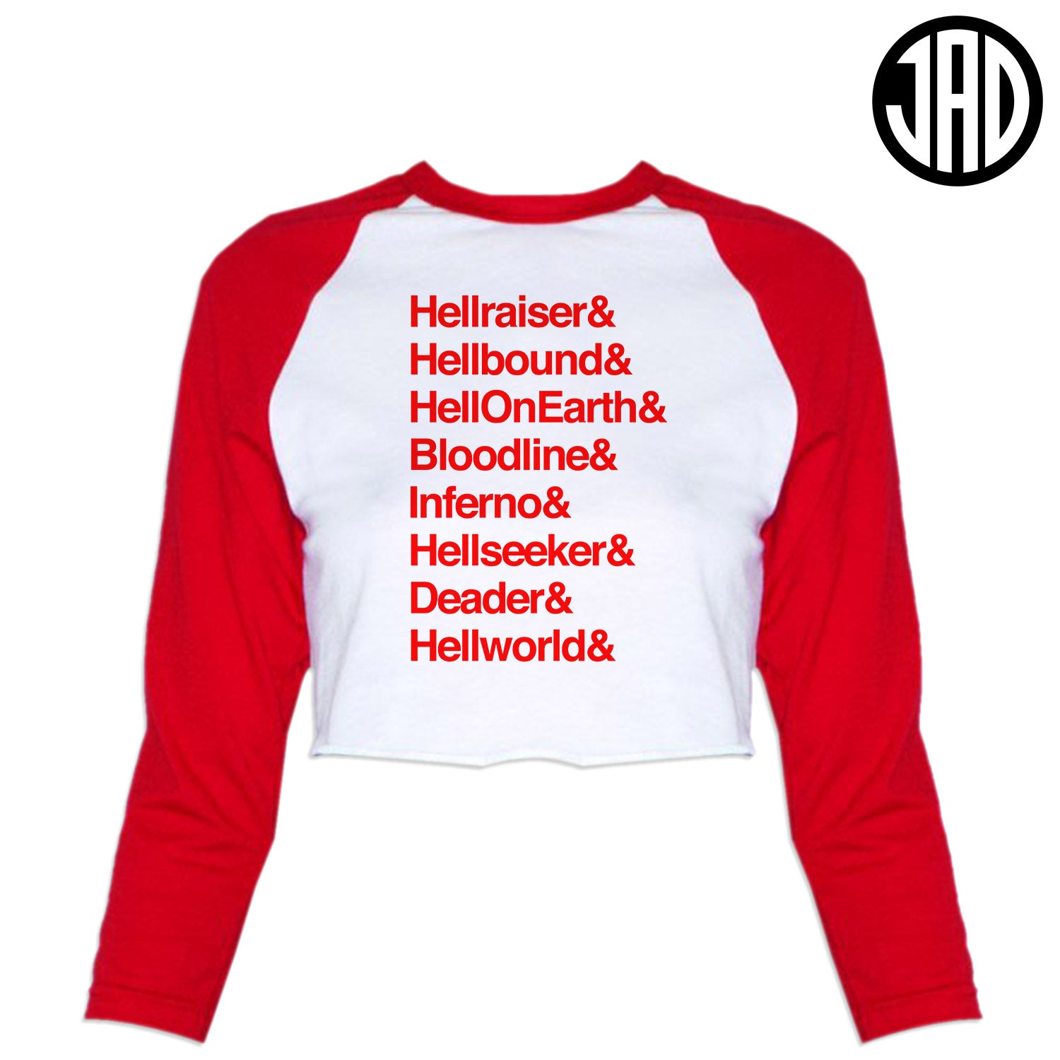Hell 8 - Women's Cropped Baseball Tee