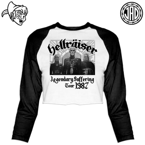 Legendary Suffering - Women's Cropped Baseball Tee