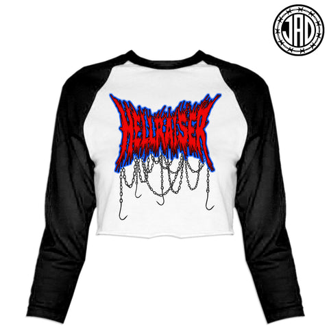 Hellraiser Hardcore -  Women's Cropped Baseball Tee