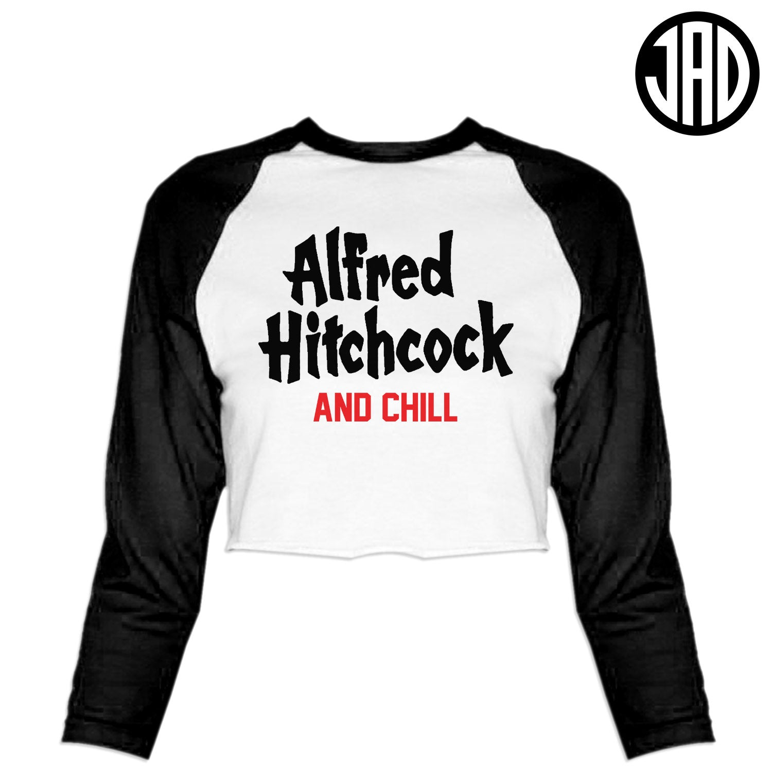 Hitchcock & Chill - Women's Cropped Baseball Tee