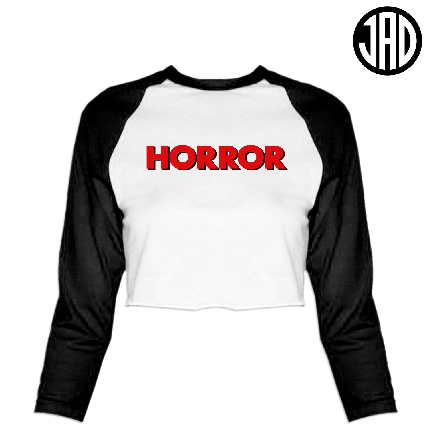 Horror High - Women's Cropped Baseball Tee