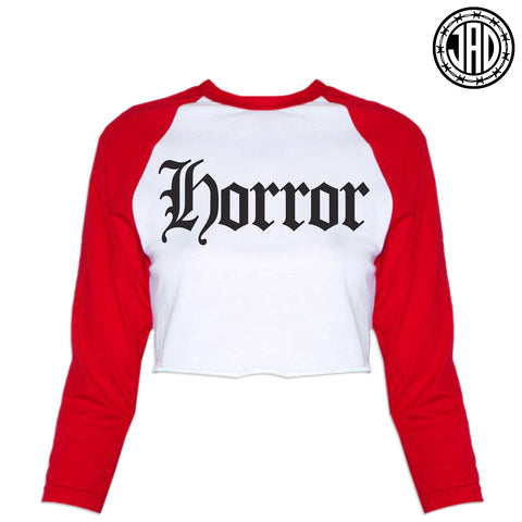 Horror - Women's Cropped Baseball Tee