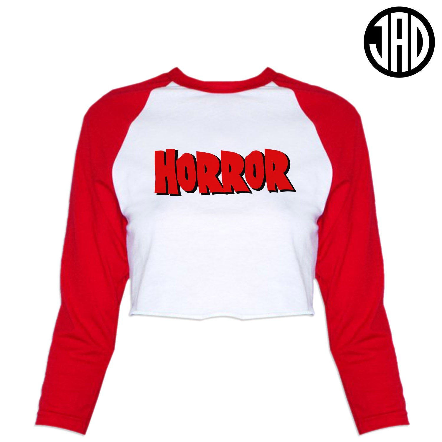Horror Street - Women's Cropped Baseball Tee