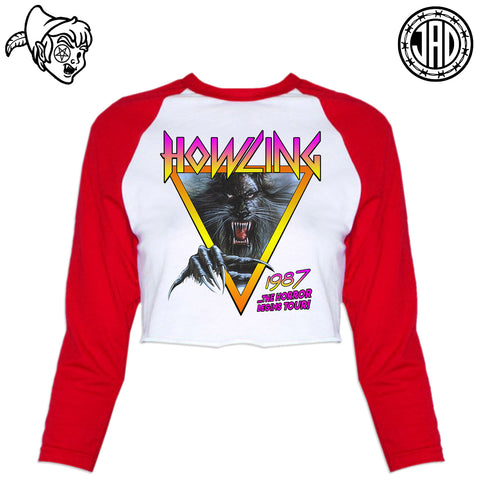 Howling - Women's Cropped Baseball Tee