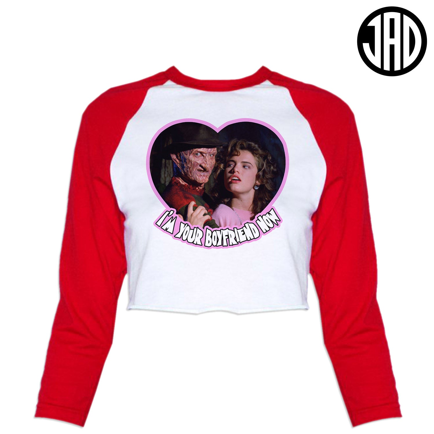 I'm Your Boyfriend Now - Women's Cropped Baseball Tee