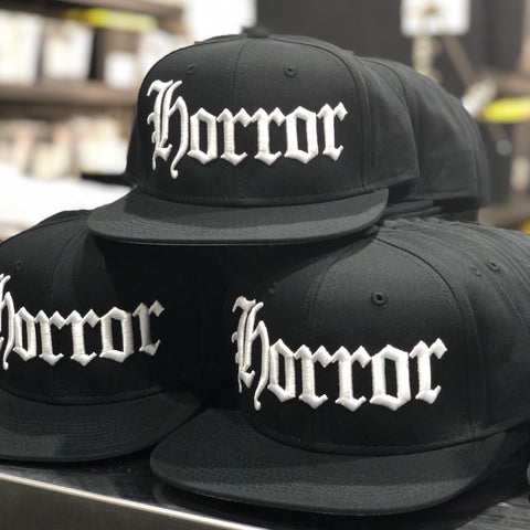 HORROR - Black Snapback Hat