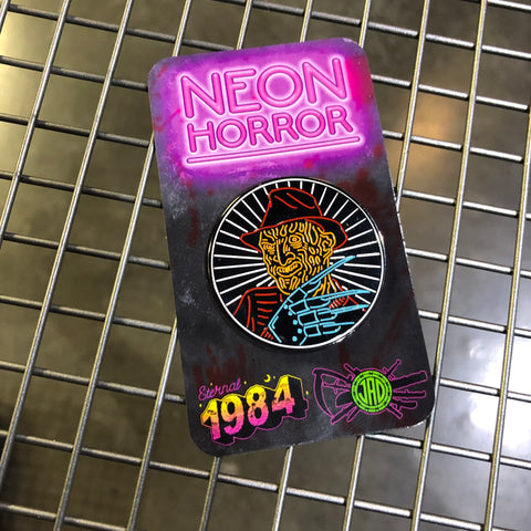 Neon Horror - Freddy - Enamel Pin