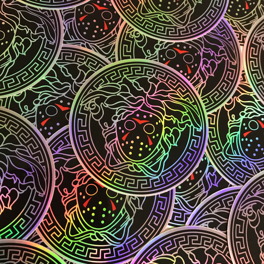 VOORSACE - Black Holographic - Sticker