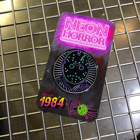 Neon Horror - Jason - Enamel Pin