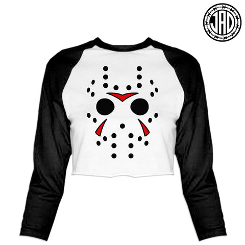 Big Hockey Mask - Women's Cropped Baseball Tee