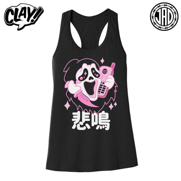 Kawaii Ghost - Women's Racerback Tank