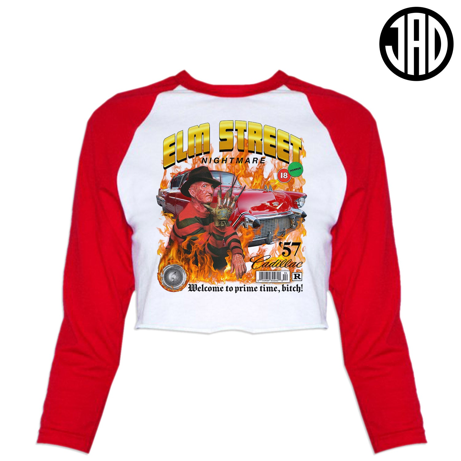 Lowrider Fred - Women's Cropped Baseball Tee
