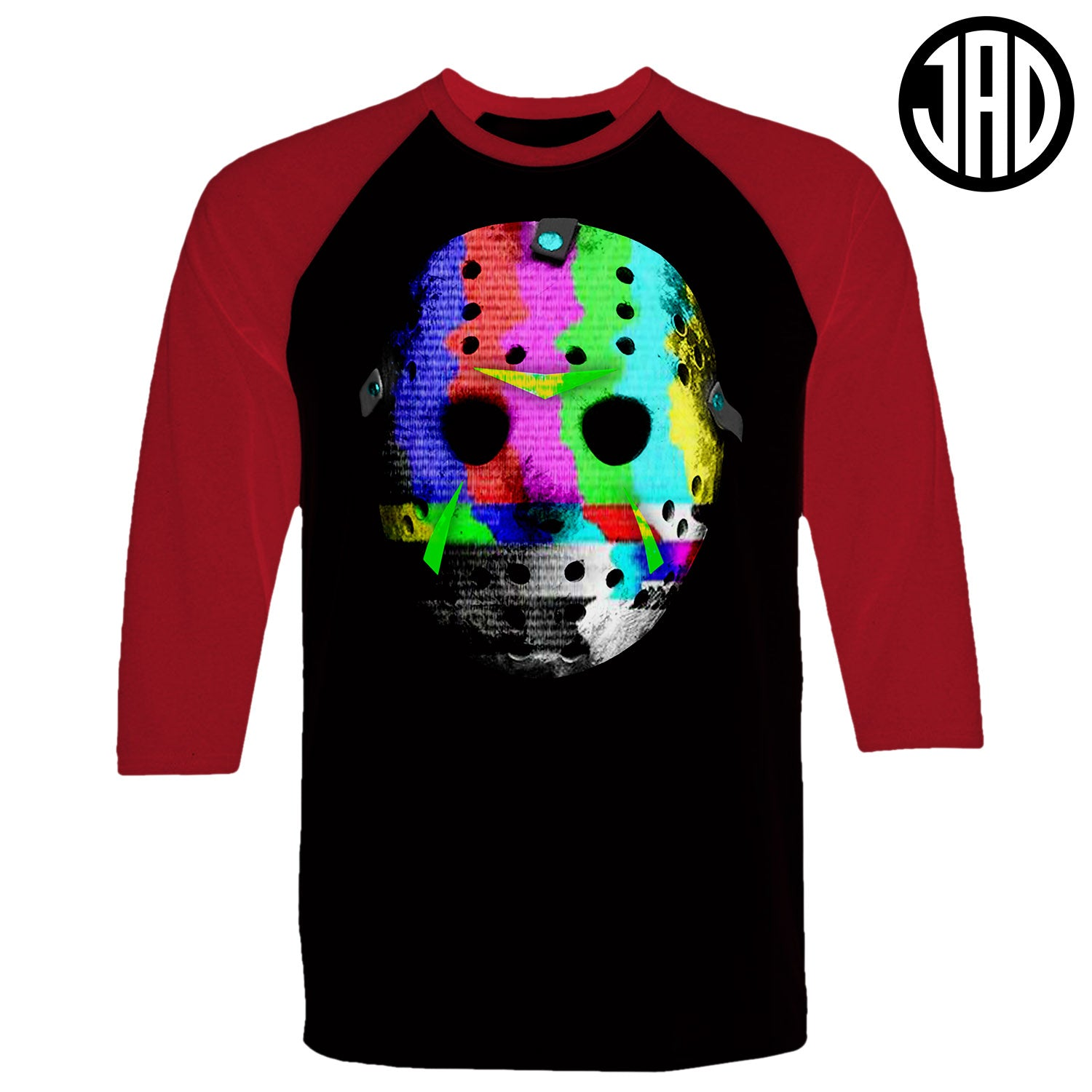 Mask Static - Men's Baseball Tee