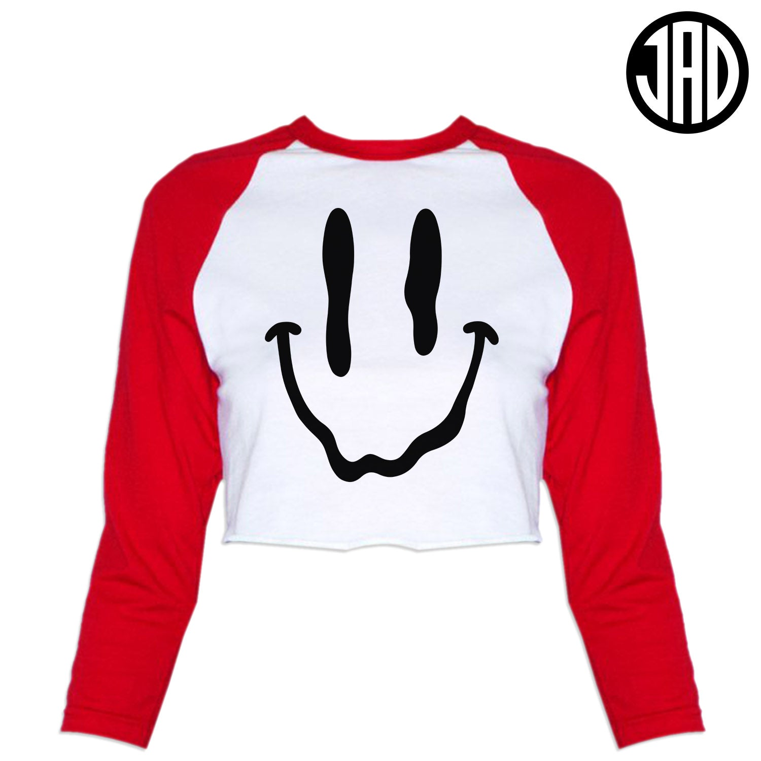 Melty Face - Women's Cropped Baseball Tee