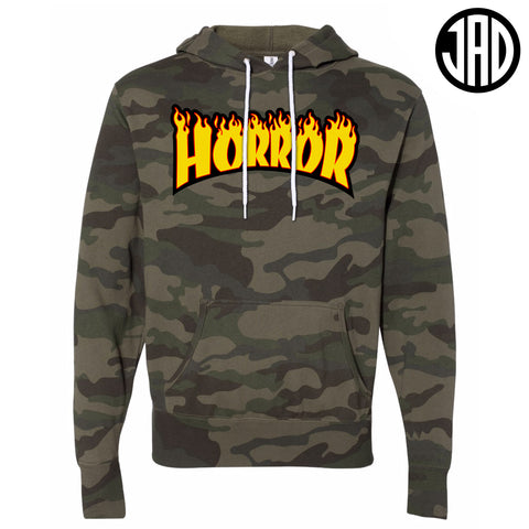 Horror Flames - Mens (Unisex) Hoodie - Limited Camo
