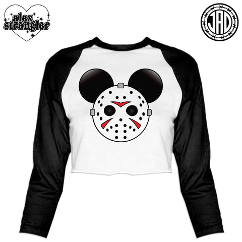 Mr. Murder Mouse - Women's Cropped Baseball Tee