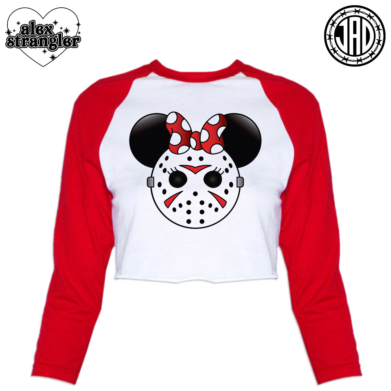 Mrs. Murder Mouse - Women's Cropped Baseball Tee