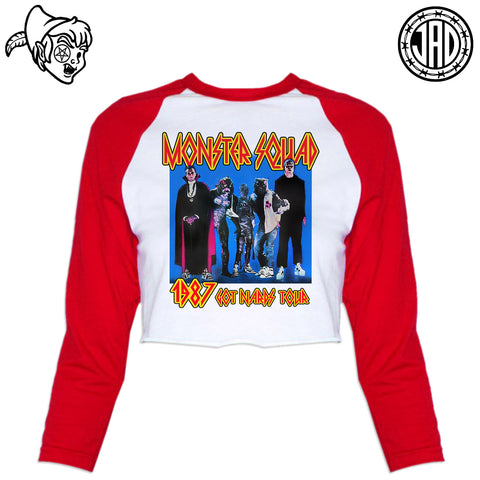 1987 Got Nards Tour - Women's Cropped Baseball Tee