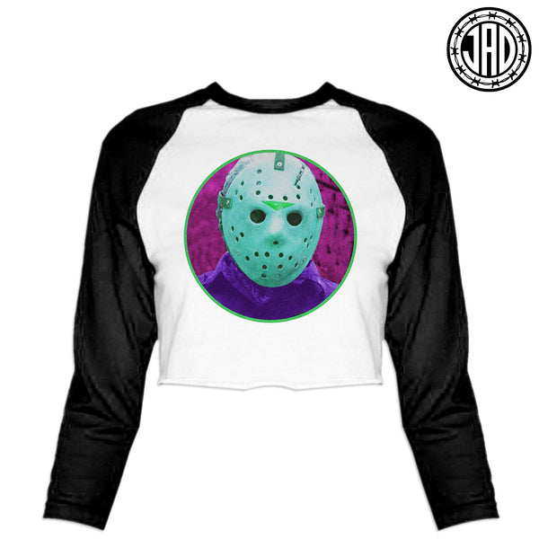 NES Retro - Women's Cropped Baseball Tee